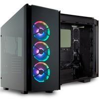 Gabinete Gamer Corsair Obsidian Series 500D RGB SE Premium, Mid-Tower, 3 Fans, Vidro Temperado, Preto - CC-9011139-WW