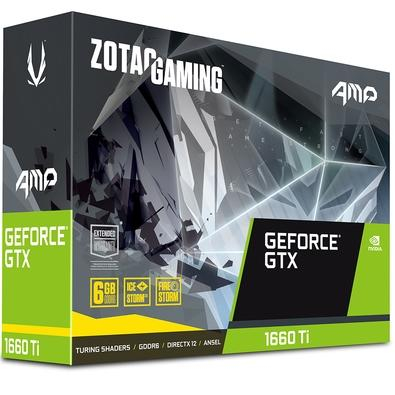 Placa de Vídeo Zotac NVIDIA GeForce GTX 1660 Ti AMP! - ZT-T16610D-10M