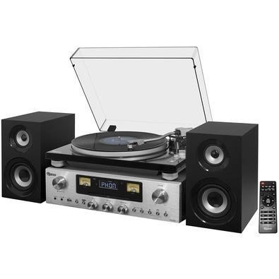 Toca Discos Raveo Concert One - Bluetooth, USB Reproduz e Grava Vinil e CD, Potência RR-1000 80W