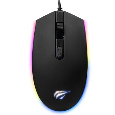 Mouse Gamer Havit RGB, 4 Botões, 1200DPI - HV-MS1003