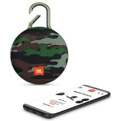 Caixa de Som JBL Clip 3, Bluetooth, À Prova D´Água, 3.3W, Squad - JBLCLIP3SQUAD
