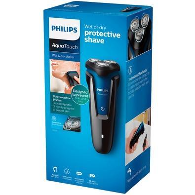 Barbeador Philips sem Fio, Seco/Molhado, Preto e Azul, Bivolt - S1030/04