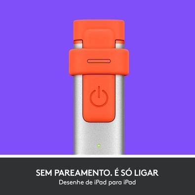 Lápis Digital Logitech Crayon Para iPad de 6ª Geração - 914-000033
