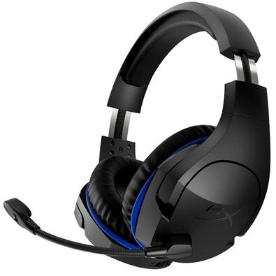 Headset Gamer Sem Fio HyperX Cloud Stinger Wireless PS4, Drivers 50mm, Preto e Azul - HX-HSCSW-BK