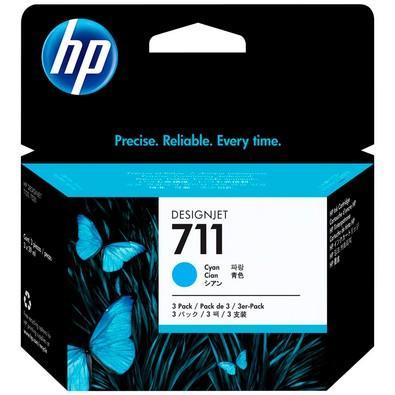 Cartucho de Tinta HP Designjet 711, Ciano - CZ134AB