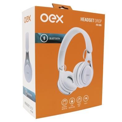 Headset OEX Drop Bluetooth, Branco - HS306