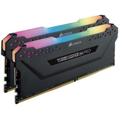 Memória Corsair Vengeance RGB Pro, 32GB (2x16GB), 3000Hz, DDR4, C15, Preto - CMW32GX4M2C3000C15