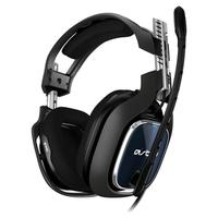 Headset ASTRO Gaming A40 TR + MixAmp Pro TR Gen 4 com Áudio Dolby para PS4, PC, Mac - Preto/Azul - 939-001791
