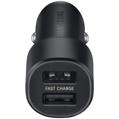 Carregador Veicular Samsung 2 Portas USB, 15W, Preto - EP-L1100