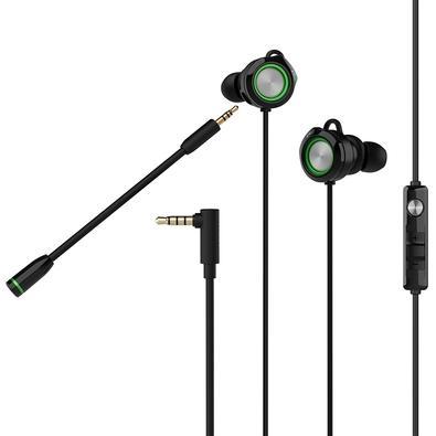 Fone de Ouvido Intra-Auricular Gamer Edifier P3, Preto e Verde - GM3SE