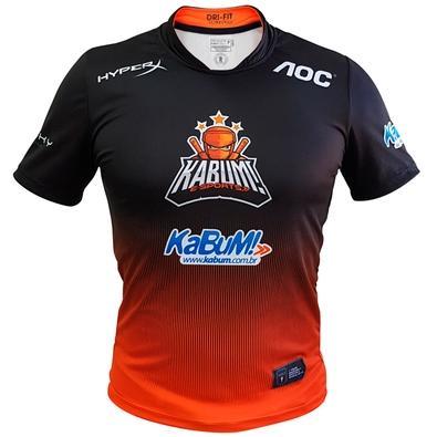 Camiseta Uniforme Oficial KaBuM! e-Sports 2019, Orange Ninja, Dry-Fit, Tamanho GG