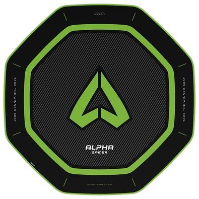 Tapete Gamer Alpha Gamer Octan, Green - AGOCTANGRN