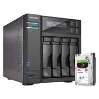 Storage Asustor NAS, 4TB, 4 Baias - AS6204T4000