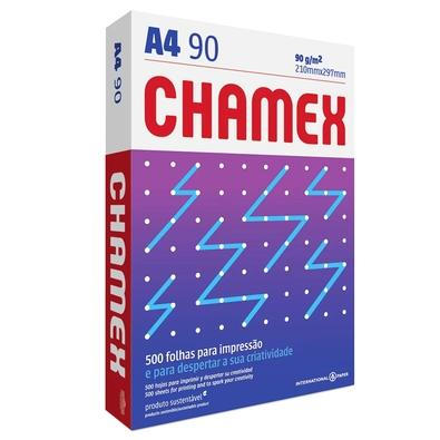 Papel Sulfite A4 Chamex Super, 210 x 297mm, 90grs, Pacote 500 Folhas, Branco