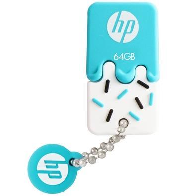 Pen drive HP Mini V178B, 64GB, USB 2.0, Azul - HPFD178B-64