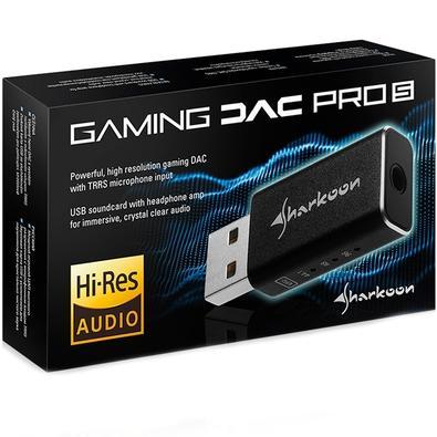 Placa de Som Externa Sharkoon, Gaming DAC Pro S, USB