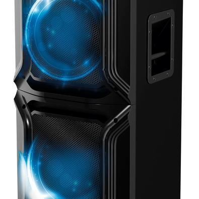 Caixa Acústica Portátil Philco - Bluetooth, FM, Microfone, 1500W RMS, Bivolt, Preto - PCX15000