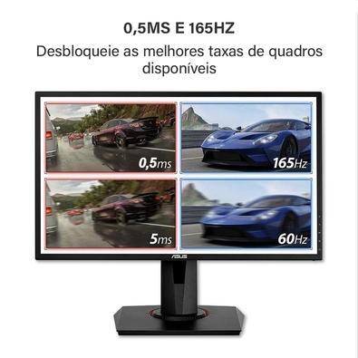 Monitor Gamer LED Asus 24´, Full HD, HDMI/DVI-D/Display Port, Gsync Compatível, Altura Ajustável, 165 Hz, 0.5 Ms - VG248QG