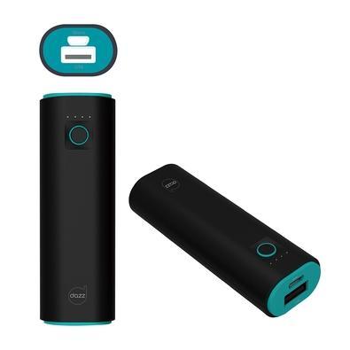 Carregador Portátil Dazz Pop, 2500 mAh, Cabo Micro USB, Preto e Verde - 6014520