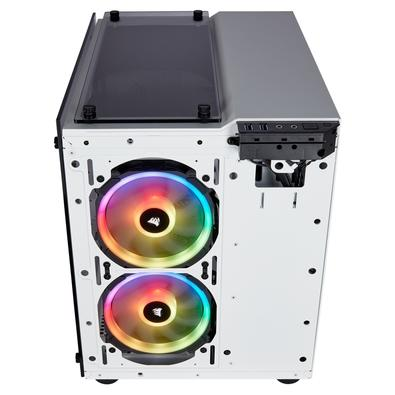 Gabinete Gamer Corsair Crystal Series 280X, mATX, RGB, Lateral e Frontal em Vidro, Branco - CC-9011137-WW