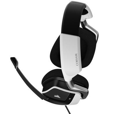 Headset Gamer Corsair Void Elite USB, RGB, 7.1 Surround, Drivers 50 mm, Branco - CA-9011204-NA