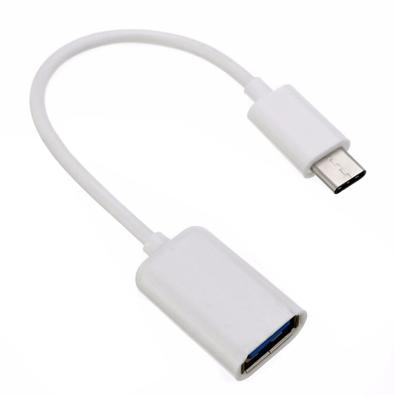 Adaptador OTG MD9, USB A Fêmea x Tipo C Macho, Branco - 8124