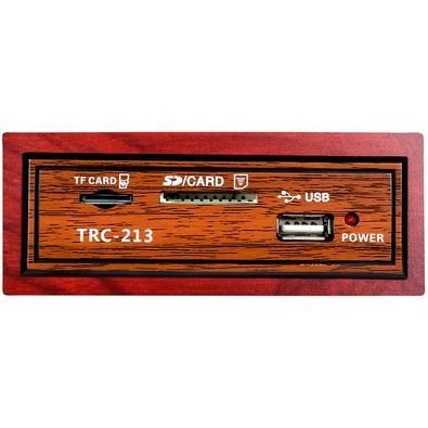 Caixa de Som Portátil TRC 213, Bluetooth, 35W RMS, USB, Retrô - TRC 213