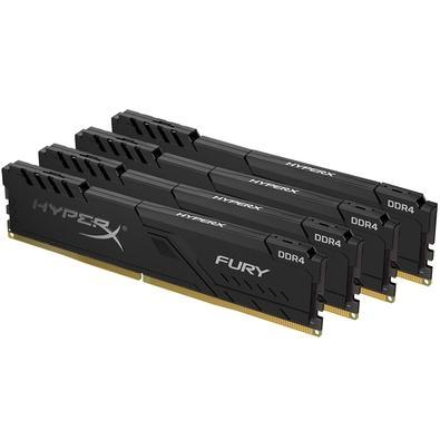 Memória HyperX Fury, 16GB (4x4GB), 2400MHz, DDR4, CL15, Preto - HX424C15FB3K4/16