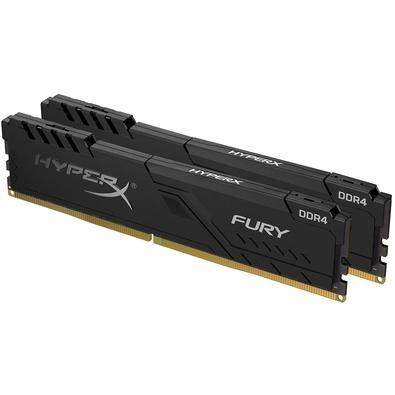 Memória HyperX Fury, 16GB (2x8GB), 2666MHz, DDR4, CL16, Preto - HX426C16FB3K2/16