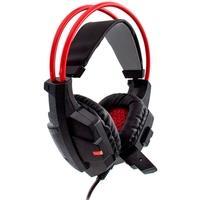 Headset Gamer Evolut, LED, Drivers 40mm, Preto e Vermelho - EG-303