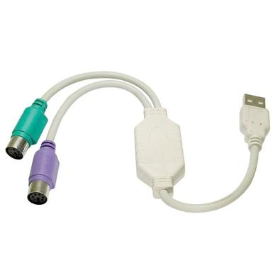 Cabo Adaptador MD9 USB Macho x 2 PS/2 Fêmea - 4548