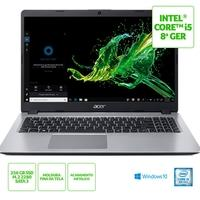 Notebook Acer Aspire 5 A515-52-536H Intel Core i5-8265U, 8GB, SSD 256GB, Windows 10 Home, 15.6´, Prata