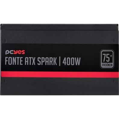 Fonte PCYes Spark 75+, 400W - PXSP400WPT