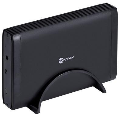 Case Vinik para HD 3.5´, USB 3.0, Tipo C, Preto - CH35-AC3 (29857)