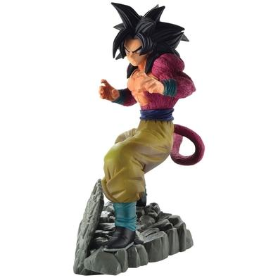 Action Figure Dragon Ball Z Dokkan Battle Anniversary, Super Saiyan 4 Son Goku, Diorama - 35781