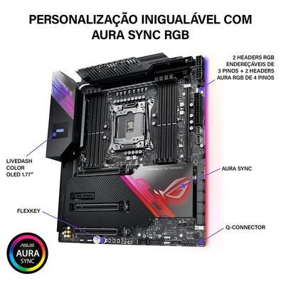 Placa-Mãe Asus ROG Rampage VI Extreme Encore, Intel LGA 2066, E-ATX, DDR4