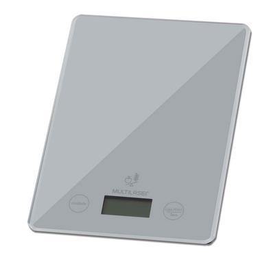 Balança de Cozinha Digital Multilaser, com Display LCD Touch, Até 5KG, Prata - CE111