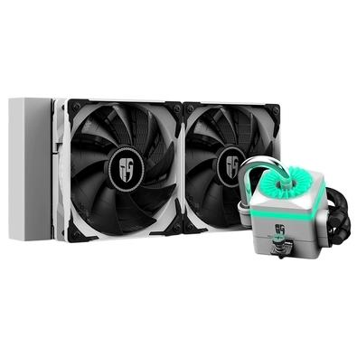 Water Cooler Deepcool Captain 240X White, 240mm, RGB - DP-GS-H12-CT240XR-WH