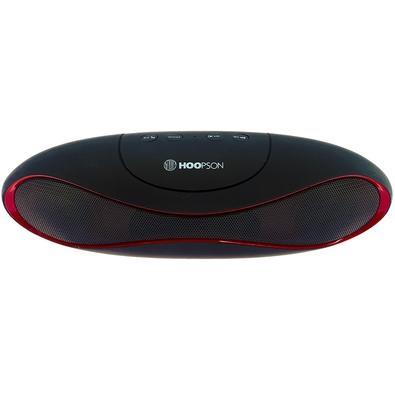 Caixa de Som Portátil Hoopson, Bluetooth, 3W RMS, Preto/Vermelho - RB-003 DR