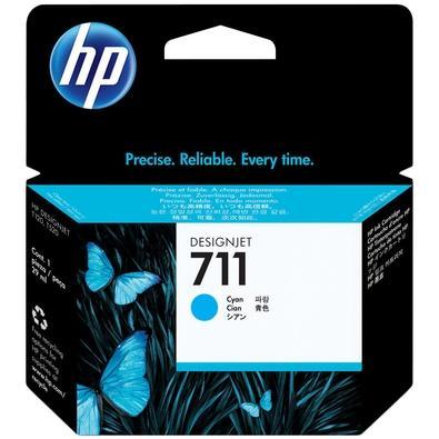 Cartucho de Tinta HP 711, Ciano - CZ130AB