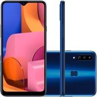 Smartphone Samsung Galaxy A20s, 32GB, 13MP, Tela 6.5´, Azul - SM-A207MZBDZTO