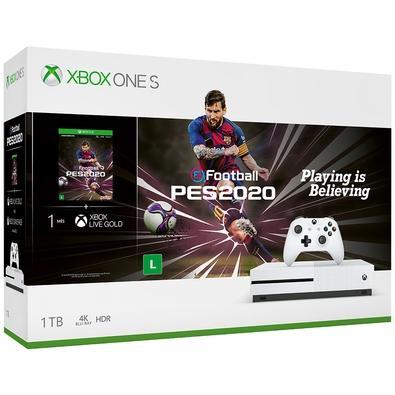 Console Microsoft Xbox One S 1TB Branco + PES 2020 - 234-01120