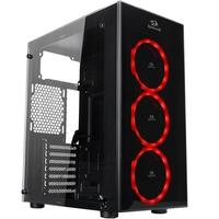 Gabinete Gamer Redragon Thundercracker, ATX, LED, com FAN, Lateral e Frontal em Vidro - GC-605