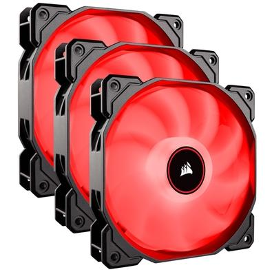 Kit com 3 Cooler FAN Corsair AF120, 120mm, LED, Vermelho - CO-9050083-WW
