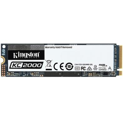 SSD Kingston KC2000, 500GB, M.2 NVMe, Leitura 3000MB/s, Gravação 2000MB/s - SKC2000M8/500G