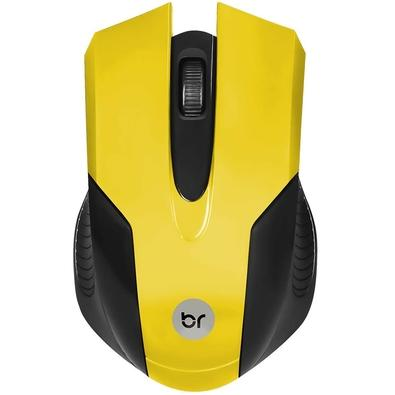Mouse Usb Óptico Led 1000 Dpis Canadá Amarelo 0378 Bright