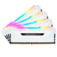 Memória Corsair Vengeance RGB Pro, 32GB (4x8GB), 3200MHz, DDR4, CL16, Branco - CMW32GX4M4C3200C16W