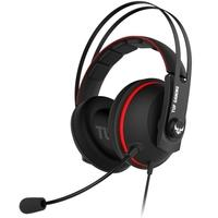 Headset Gamer Asus TUF Gaming H7 Red, 7.1 Virtual Surround, Drivers 53mm, Preto/Amarelo - 90YH01VR-B8UA00