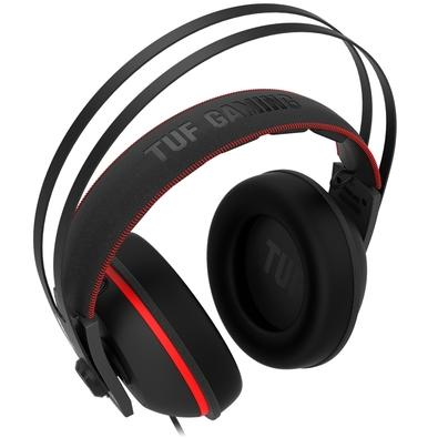 Headset Gamer Asus TUF Gaming H7 Red, 7.1 Virtual Surround, Drivers 53mm, Preto/Amarelo - 90YH01VR-B8UA00