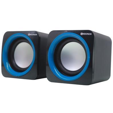 Caixa de Som Hoopson CX-PC018 , 4W RMS, P2, Azul - CX-PC018A